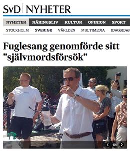 Christer Fuglesangs självmordsförsök
